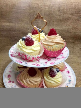 Vegan Gluten Free Vanilla Cupcakes with Frosting of Your Choice