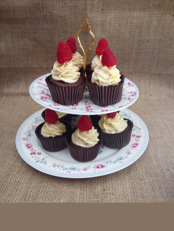 Vegan Gluten Free Chocolate Cupcakes with Beets and Vanilla Frosting