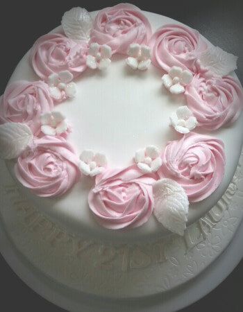 Piped Rose Cake