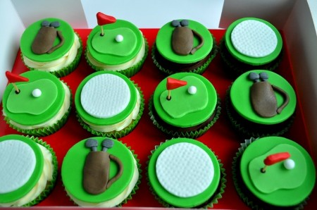 Golf Themed Cupcakes