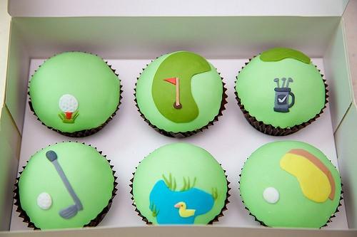 Golf Themed Cupcakes 2