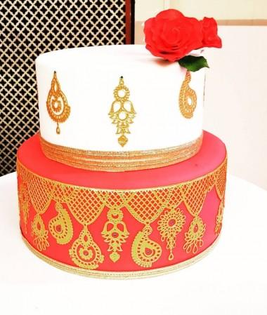 Mendhi party cake