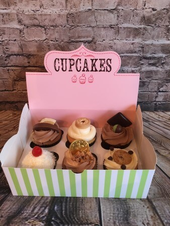 Topped cupcakes