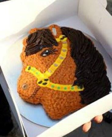 Caramel Chocolate pony cake