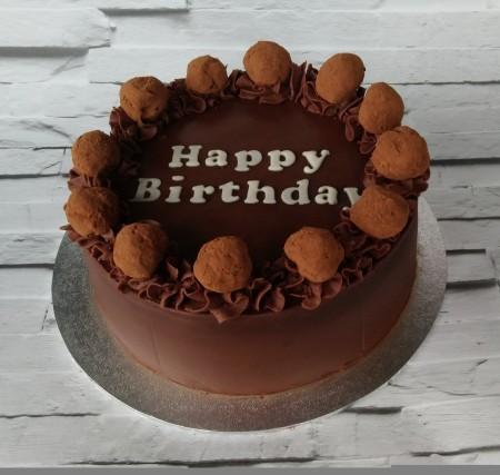 Chocolate Caramel Marble Cake