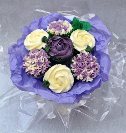 Assorted Flower Cupcake Bouquet