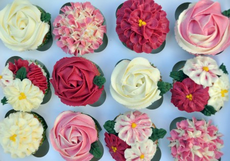 Assorted Flower Cupcakes