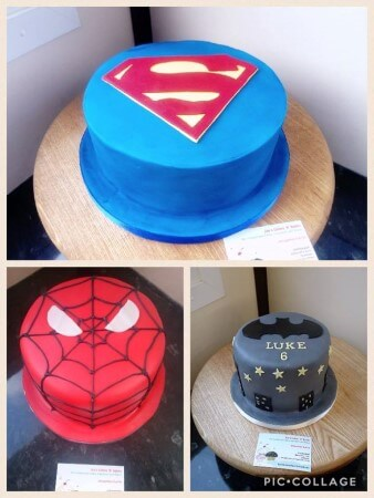 Superhero themed cakes