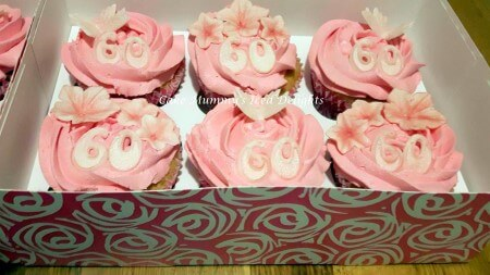 Pink Flower & Butterfly cupcakes