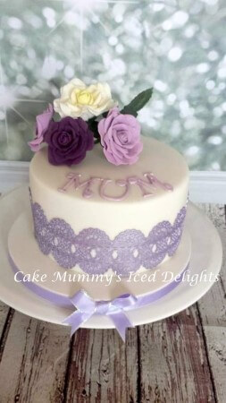Mum Rose & Lace Cake