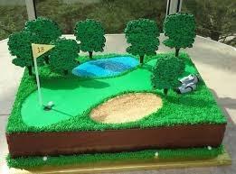 Golf Course Cake
