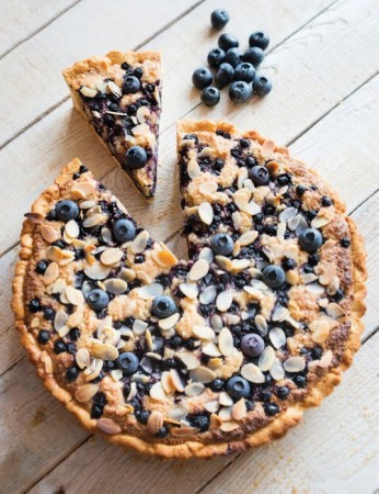 Gluten and Dairy Free Blueberry and Almond Tart