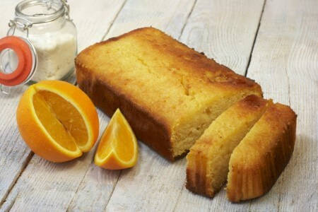Vegan Orange and Coconut loaf cake