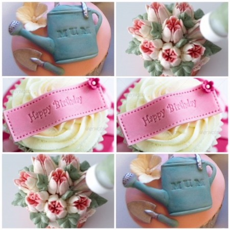 Retirement cupcake selection- garden designs