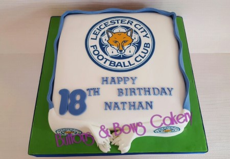 LCFC Themed Birthday Cake