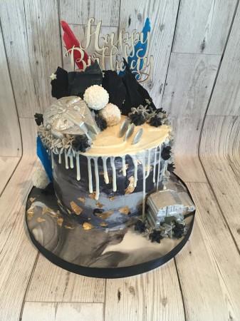 Themed drip cakes