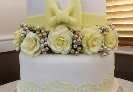 1/2/3 Tier Round Fruit Wedding Cake