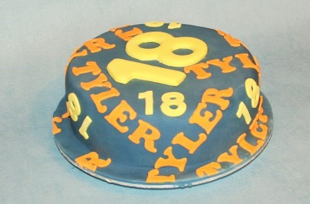 Name & Age cake