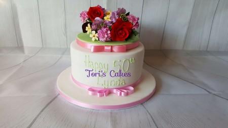 Flower Fruit Cake