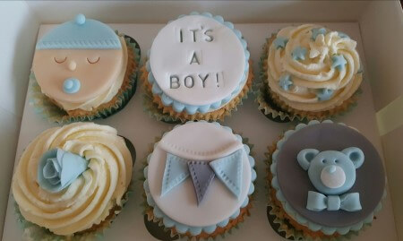 Baby shower/New baby boy cupcakes