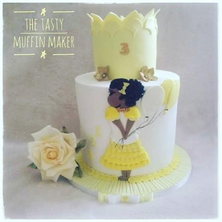 Pretty little girls cake