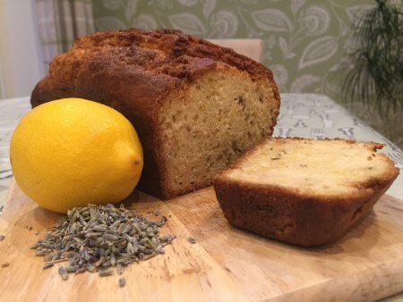 Lemon and lavender drizzle loaf