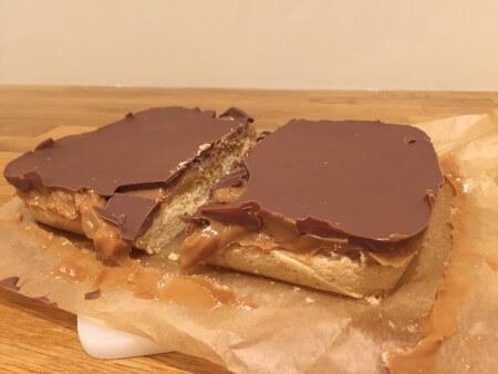Gooey caramel shortbread