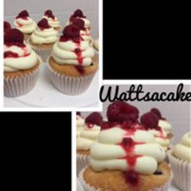 White chocolate and raspberry cupcake