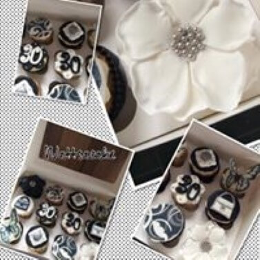 Bespoke 30th birthday cupcakes -email supplied