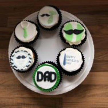 Man theme cupcakes