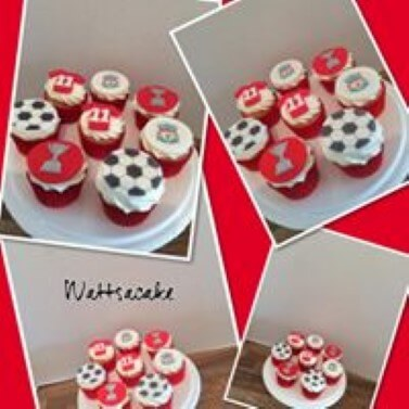 Liverpool theme cupcakes