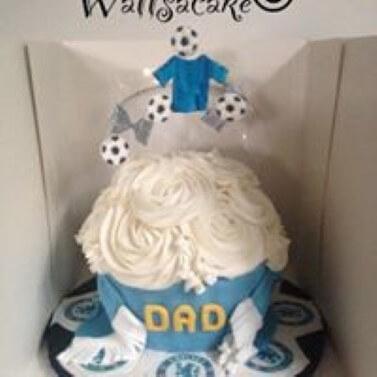 Chelsea theme giant cupcake