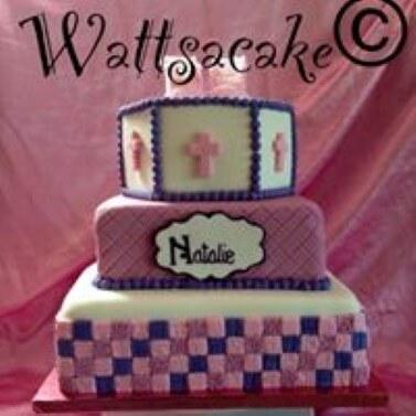 Christening cake- 3 tier.