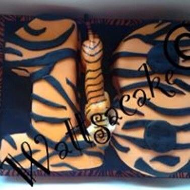 18th Tiger theme cake