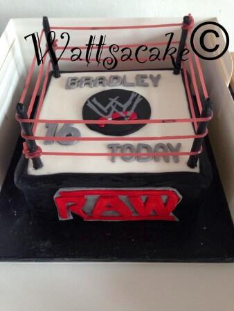 Wrestling Ring cake