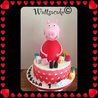 3D peppa pig & cake.
