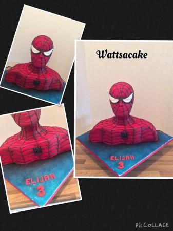 3D spider-man head cake.