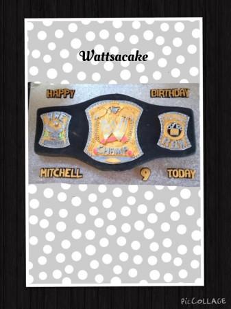 Wrestling belt cake