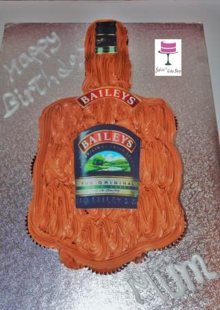 Baileys bottle cupcakes cake