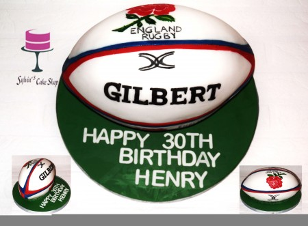 3D England Rugby ball
