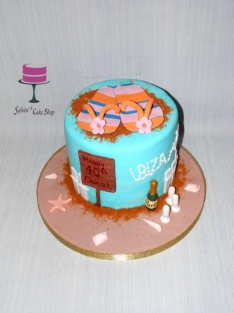 Beach holiday cake