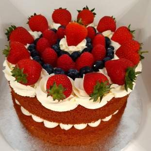 Store Sponge Cake With Whipped Cream