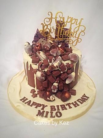 Chocolate overload drip cake