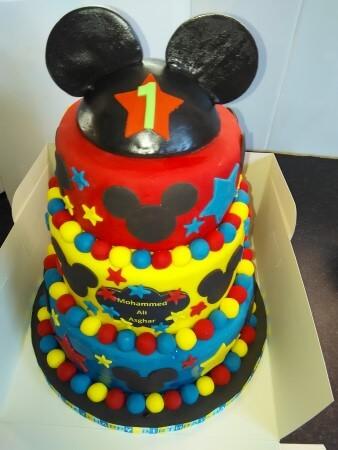 3 tier mickey cake