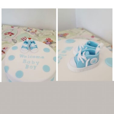 Baby Shower Cake Converse