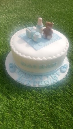 Baby shower with teddy on top