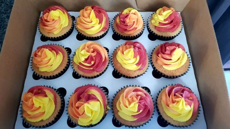 Flame cupcakes