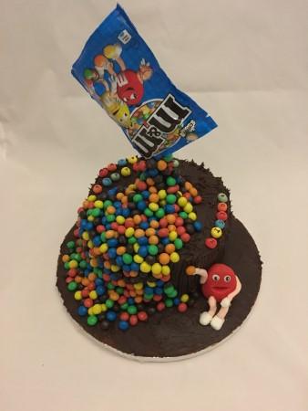 Chocolate M & M cake