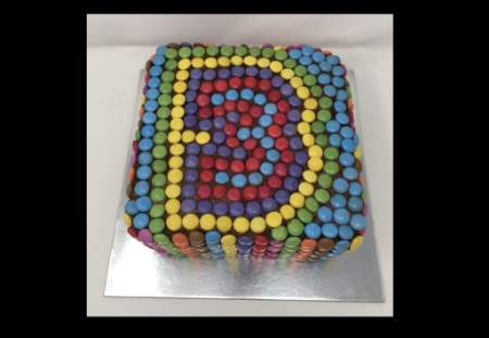3rd Birthday Chocolate cake and smarties