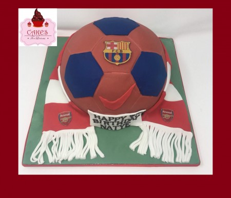 Football Cake with scarf